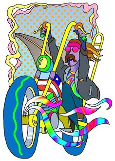 ☮ American Hippie Psychedelic Groovy Art