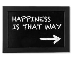 """Nástěnná dekorace """"Happiness Home Living, That Way, Keep Calm, Phrases, Happy, Artwork, Poster, Happiness, Impressionism"""