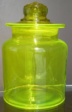 Vintage Lemon Yellow Depression Glass by KathatKreations on Etsy, $43.00