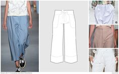 FASHION VIGNETTE: TRENDS // FASHION SNOOPS . WOMEN'S KEY STYLES + SKETCHES . SS 2017 PANTS/SHORTS - Culottes