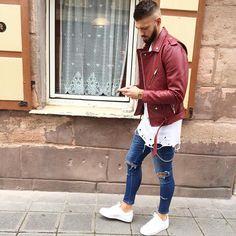 "Fio on Instagram: ""Streetstyle. Shirt by @asos_menswear Jacket by @zara Jeans by…"