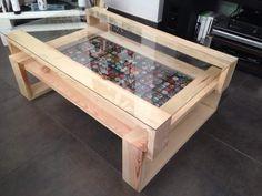 Tavolino da salotto in legno riciclato da pallet eco design 3
