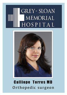 Callie - ID Badge - Grey's Anatomy