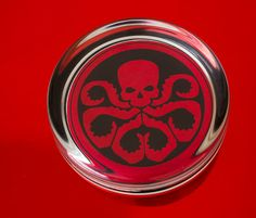 Solid Glass Round Hydra Paperweight by UnofficiallyOriginal Paper Weights, Superhero, Glass, Drinkware, Corning Glass, Barware