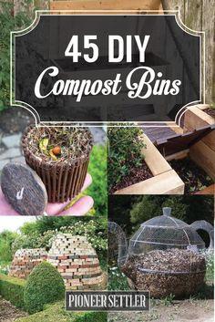 45 DIY Compost Bins