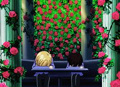 Tamaki Suoh and Haruhi Fujioka gif. Absolutely LOVE Ouran High School Host Club.