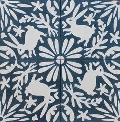 Otomi tiles from Grow House Grow. Tile Design, Layout Design, Ceramic Floor Tiles, Ceramic Art, Mexican Art, Surface Pattern Design, Stencils, Stencil Walls, Prints