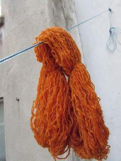 prachtig oranje van kurkumapoeder in combinatie met bakpoeder, mooi kleur vind ik