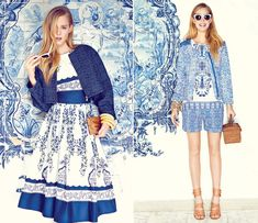 Azulejos portugueses. It's not every country that can boast couture inspired by its walls.