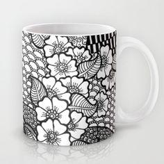 flowery zentangles Mug