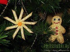 Новогодние поделки. Елки и новогодние украшения из макарон.