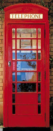Фотообои на двери «Телефонная будка» WG 00549 Telephone Box