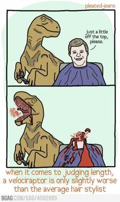 Velociraptor Hairstylist