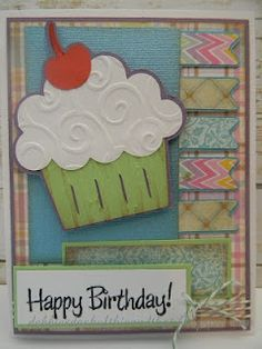 cupcake card! LOVE the texture on the frosting.