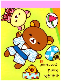 San-x Rilakkuma Summer Mini Memo Pad: Relax
