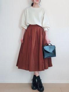 Long Skirt Fashion, Long Skirt Outfits, Fashion Dresses, Korean Girl Fashion, Japanese Fashion, Cute Casual Outfits, Pretty Outfits, Mode Ulzzang, Modelos Fashion