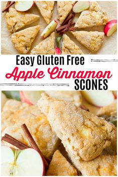 These Easy Gluten Free Apple Cinnamon Scones are a special breakfast treat! They… These Easy Gluten Free Apple Cinnamon Scones Low Carb Vegan Breakfast, Gluten Free Recipes For Breakfast, Gluten Free Breakfasts, Brunch Recipes, Dinner Recipes, Gluten Free Breakfast Casserole, Apple Breakfast, Breakfast Muffins, Healthy Breakfasts