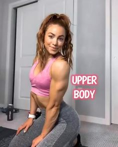 Explosive upper body workout that can be done with dumbbells or bands. IG: laurenlf Concentration curl w/ band x Tricep push-up 5 x Kettlebell row x Front raise x 15 per side) Rear delt row w/ band x 15 per side) Fitness Workouts, Gym Workout Videos, Body Workout At Home, At Home Workouts, Fitness Gear, Yoga Fitness, Fitness Tips, Upper Body Dumbbell Workout, Dumbbell Workout Routine