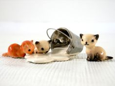Hagen Renaker 3 Kittens and Spilled Pail of Milk by bigbangzero, $44.00