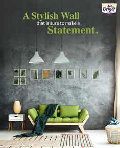 Painting a stylish wall  in living room which speaks for it self.  Get more interior house paint colors pictures and ideas.