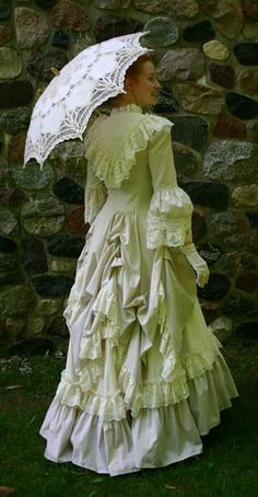 Lovely! Bustles & frills dream. Lots of great ideas for bustle skirts on that website