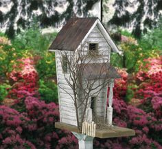 Birdhouse Wood Patterns - Old Country Birdhouse Wood Plan Bird Houses Diy, Fairy Houses, Bird House Feeder, Bird Feeders, Birds And The Bees, Bird Boxes, Wood Plans, Owl House, Wood Patterns