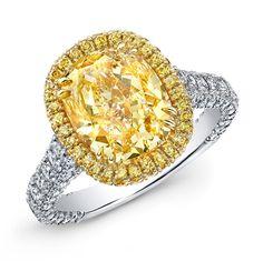 Rahaminov Diamonds Fancy Yellow Ring