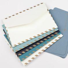 Coffret 5 enveloppes + cartes kraft - Concorde