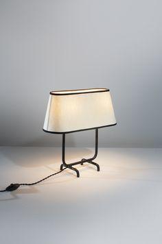 Lampe à poser de Jean Royère / Desk lamp by Jean Royère #art #galerie