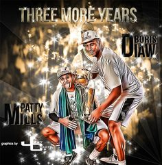 Patty Mills, Boris Diaw    graphics by just create  Sports Edits