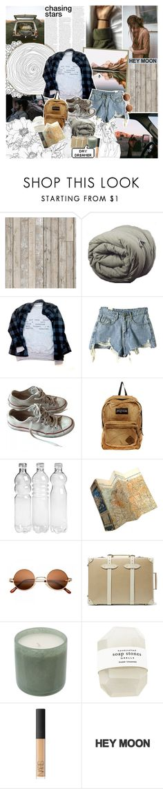 """lately, all i wanna do is lay around with you & complain about the youth"" by same-sunset ❤ liked on Polyvore featuring Piet Hein Eek, Converse, JanSport, Globe-Trotter, LAFCO, NARS Cosmetics, tmnbg and nicolewantstoseethis"