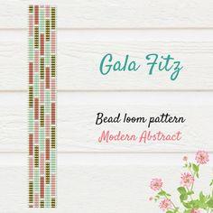 Modern abstract bead loom bracelet pattern will be a great idea to make some festive bracelet for you or as a gift. Loom bracelet pattern made with Miyuki Delica beads. Loom Bracelet Patterns, Peyote Stitch Patterns, Bead Loom Bracelets, Bead Loom Patterns, Beading Patterns, Macrame Bracelets, Beaded Bracelet, Bead Jewellery, Loom Weaving