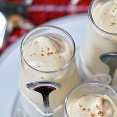 Yum! Spiked Eggnog Pudding Shots