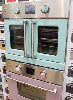 Bluestar has been around since 1880? All of their ranges are still made in the US in Pennsylvania. Their new electric wall oven (to be launched in Summer 2013) will be available with either French doors or the standard oven door.
