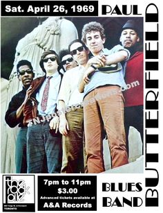 Paul Butterfield Blues Band Poster – Live at The Rock Pile in Toronto April 1969 by MyGenerationShop on Etsy