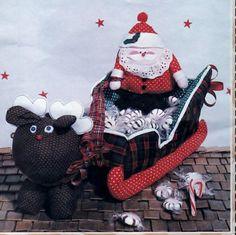 Patch Press Jingle Bell Sleigh Craft Pattern.  #fabpatterns1015  #sharpharmade