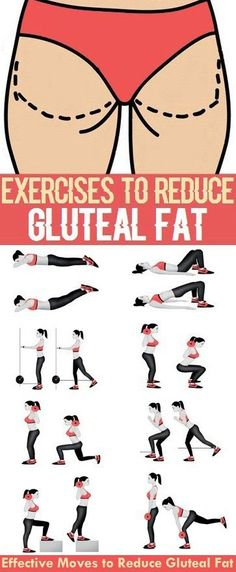 Effective Exercises to Reduce Gluteal Fat. Effective Exercises to Reduce Gluteal Fat. Burn Belly Fat Fast, Reduce Belly Fat, Fitness Tips, Fitness Motivation, Health Fitness, Exercise Motivation, Yoga Am Morgen, Bow Legged Correction, Fat Loss Diet