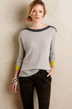 Sunstripe Cashmere Pullover by Needle Mode Outfits, Casual Outfits, Pulls, Autumn Winter Fashion, Dress To Impress, Style Me, Knitwear, Style Inspiration, Sweaters