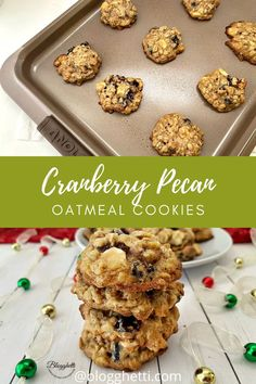 Cranberry Pecan Oatmeal Cookies are jammed pack with flavor, soft, and chewy. They'll quickly become a favorite any time of the year.