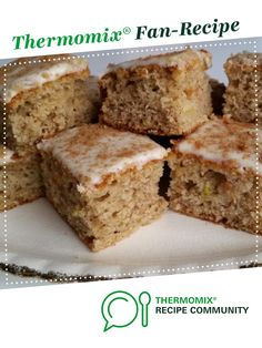 Recipe QUICK & EASY BANANA SLICE by Deb Farrimond, learn to make this recipe easily in your kitchen machine and discover other Thermomix recipes in Baking - sweet. Thermomix Banana Muffins, Thermomix Desserts, Gluten Free Sweets, Sugar Free Desserts, Tray Bake Recipes, Snack Recipes, Snacks, Banana Recipes, Brownie Recipes