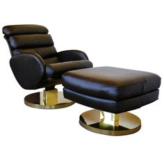 Leather Lounge Chair and Ottoman by Milo Baughman for Thayer Coggin | From a unique collection of antique and modern lounge chairs at https://www.1stdibs.com/furniture/seating/lounge-chairs/