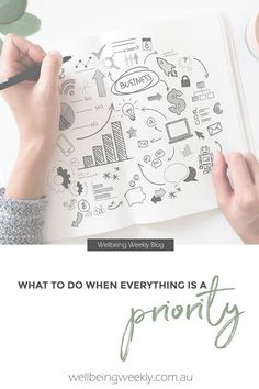 What To Do When Everything Is A Priority – Wellbeing Weekly Business Quotes, Business Tips, Prioritize, Best Self, Time Management, Everything, Bullet Journal, Blog