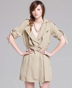 100% tencel trench. made in the usa by society for rational dress.