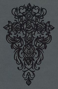 Gothic Gala - Cross | Urban Threads: Unique and Awesome Embroidery Designs
