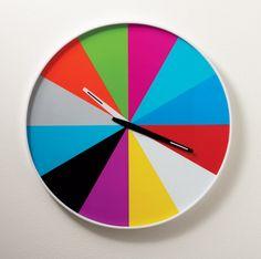 Multi Color Wall Clock - PInwheel of color
