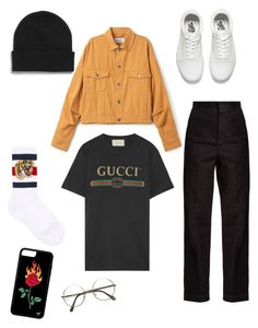 """Untitled #34"" by lousworld on Polyvore featuring STELLA McCARTNEY, Gucci, Vans, Monki, men's fashion and menswear"