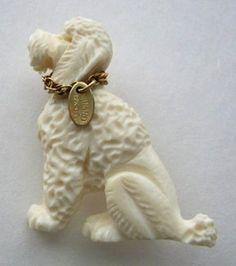 Vintage Poodle Brooch 12 K Gold Filled 1950's.