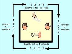 calm nerves, reduce stress, improve self-regulation w square breathing #kidsyoga #mindfulness #BreatheInBreatheOut