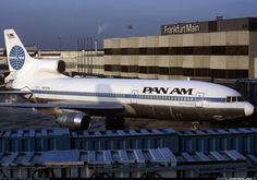 "Pan American World Airways Lockheed TriStar 500 ""Clipper War Hawk"" at Frankfurt-Main, circa (Photo: Michael Frische) All Airlines, National Airlines, Old Planes, Pan Am, Vintage Travel, Vintage Airline, Commercial Aircraft, Photo Search, Aircraft Pictures"