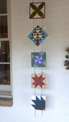 Miniature Barn Quilts by lunafaedesign on Etsy, $25.00
